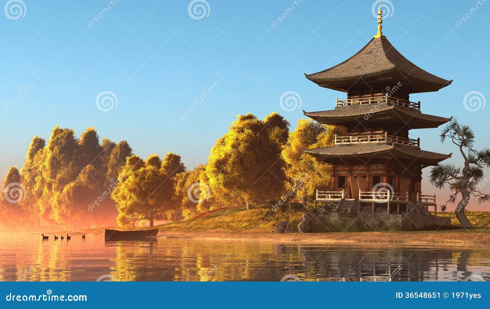 Chinesisches haus stockbild bild 36548651 for Traditionelles chinesisches haus