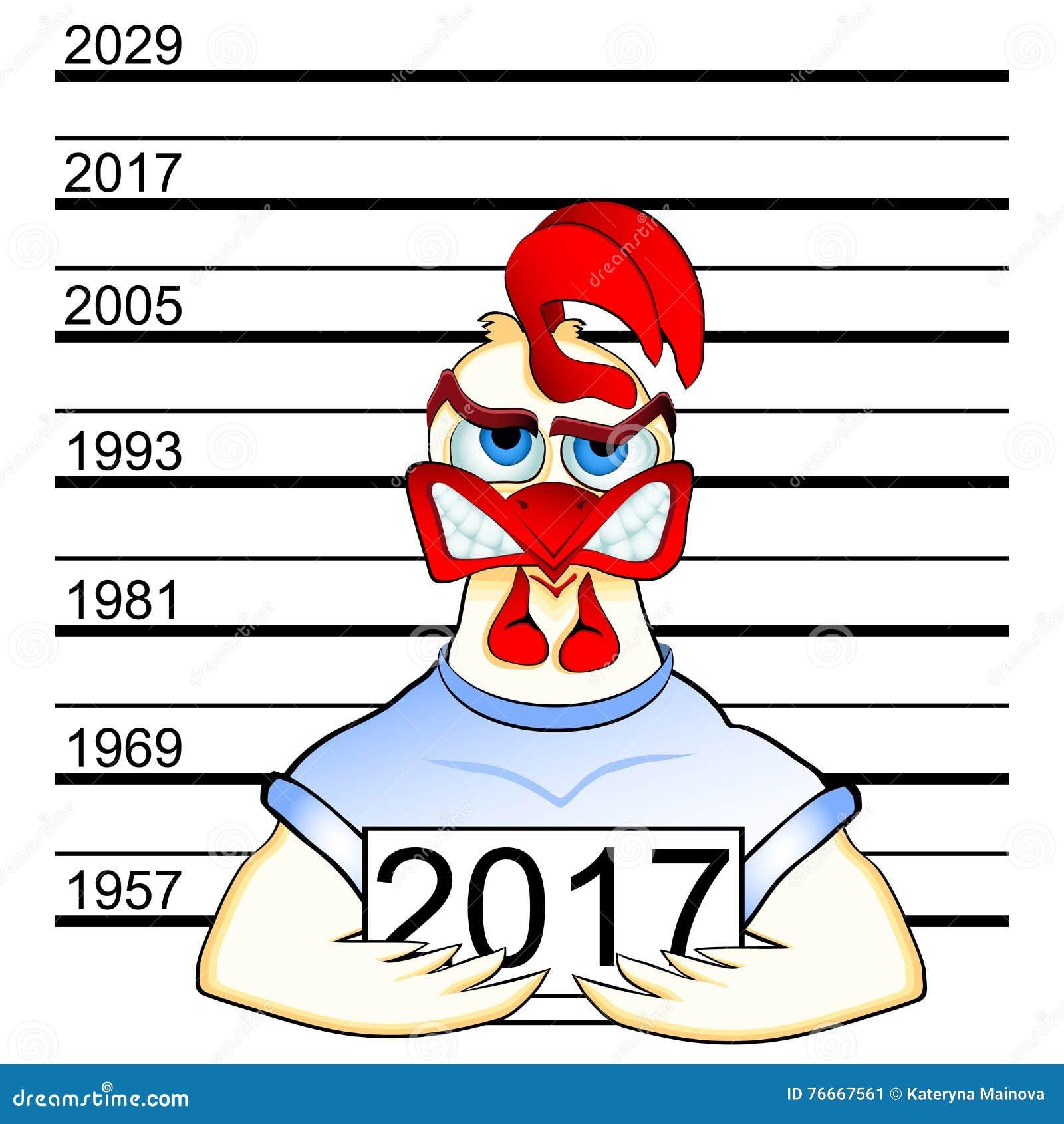chinesisches horoskop 2017 des hahns vektor abbildung illustration von dekorativ polizei