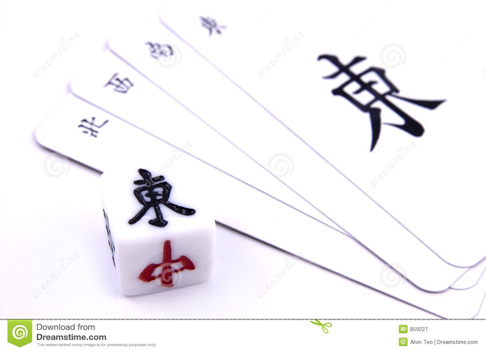 Chinesisches Mahjong Spiel