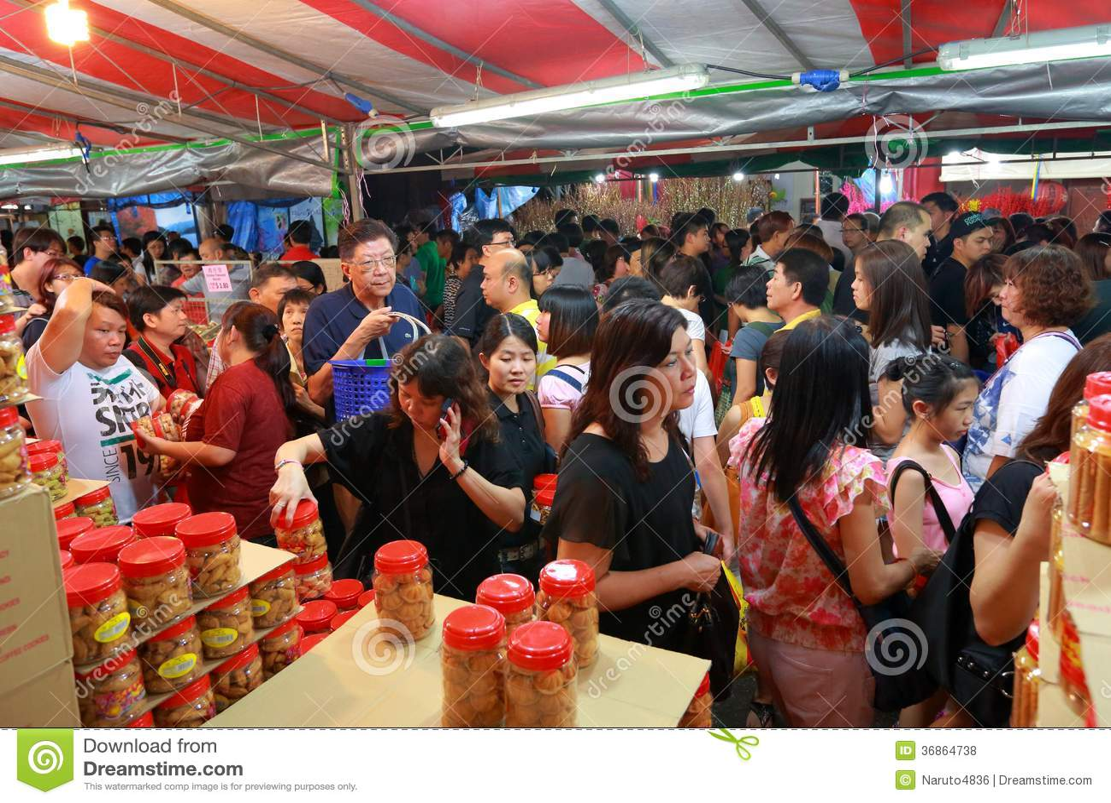 Chinesisches Mondeinkaufen neuen Jahres Singapurs Chinatown