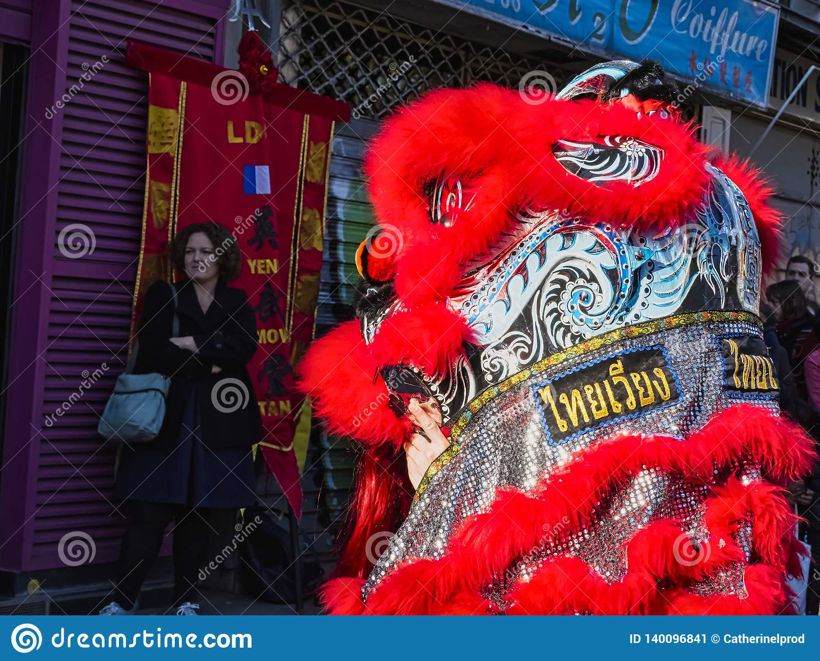 Chinesisches neues Jahr Paris 2019 Frankreich - Löwetanzen