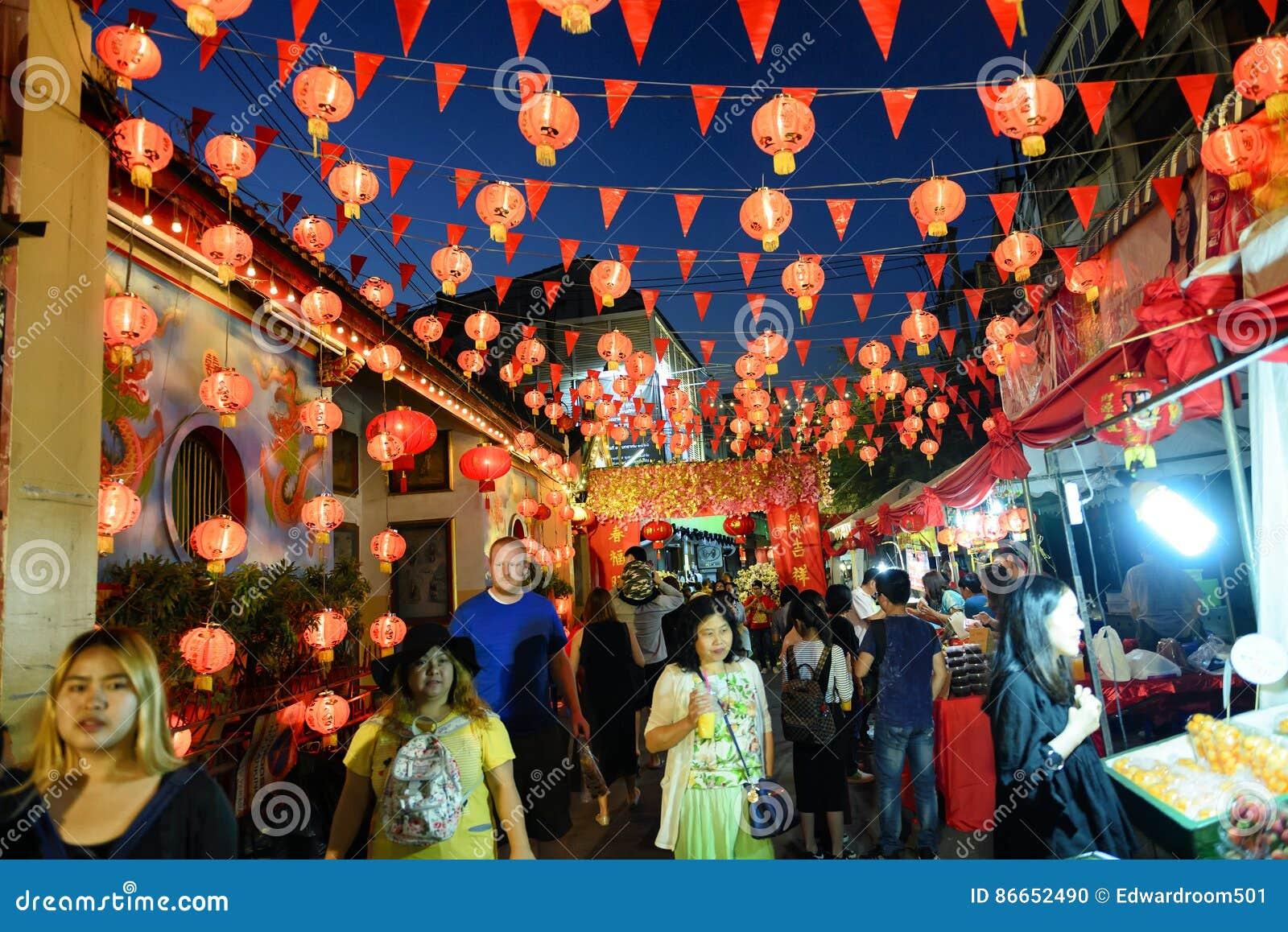 Chinesisches Neues Jahr In Thailand Redaktionelles Bild - Bild von ...