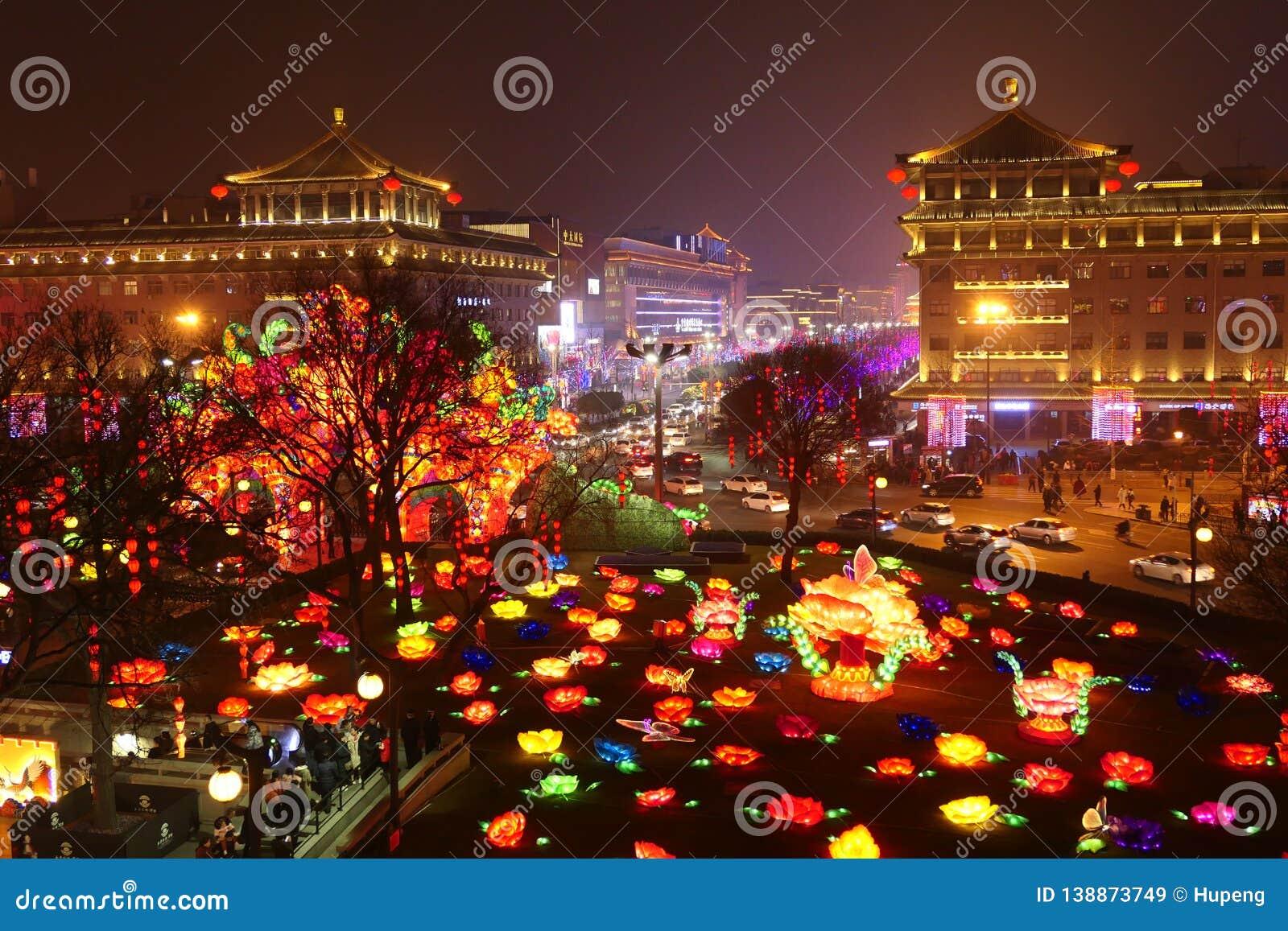 2019 chinesisches neues Jahr in Xian