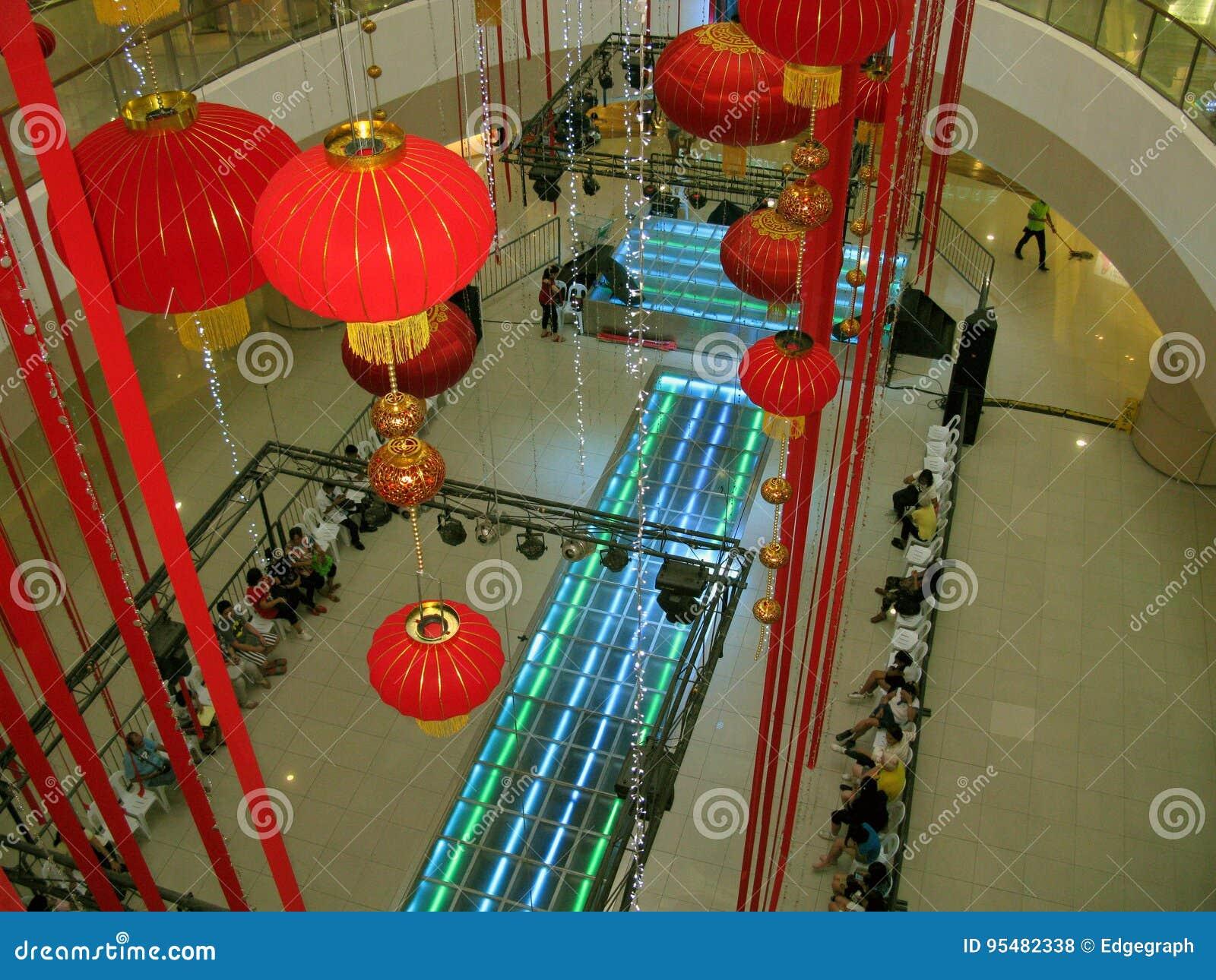 Chinesisches Neujahrsfest bei Fisher Mall, Quezon-Stadt, Philippinen
