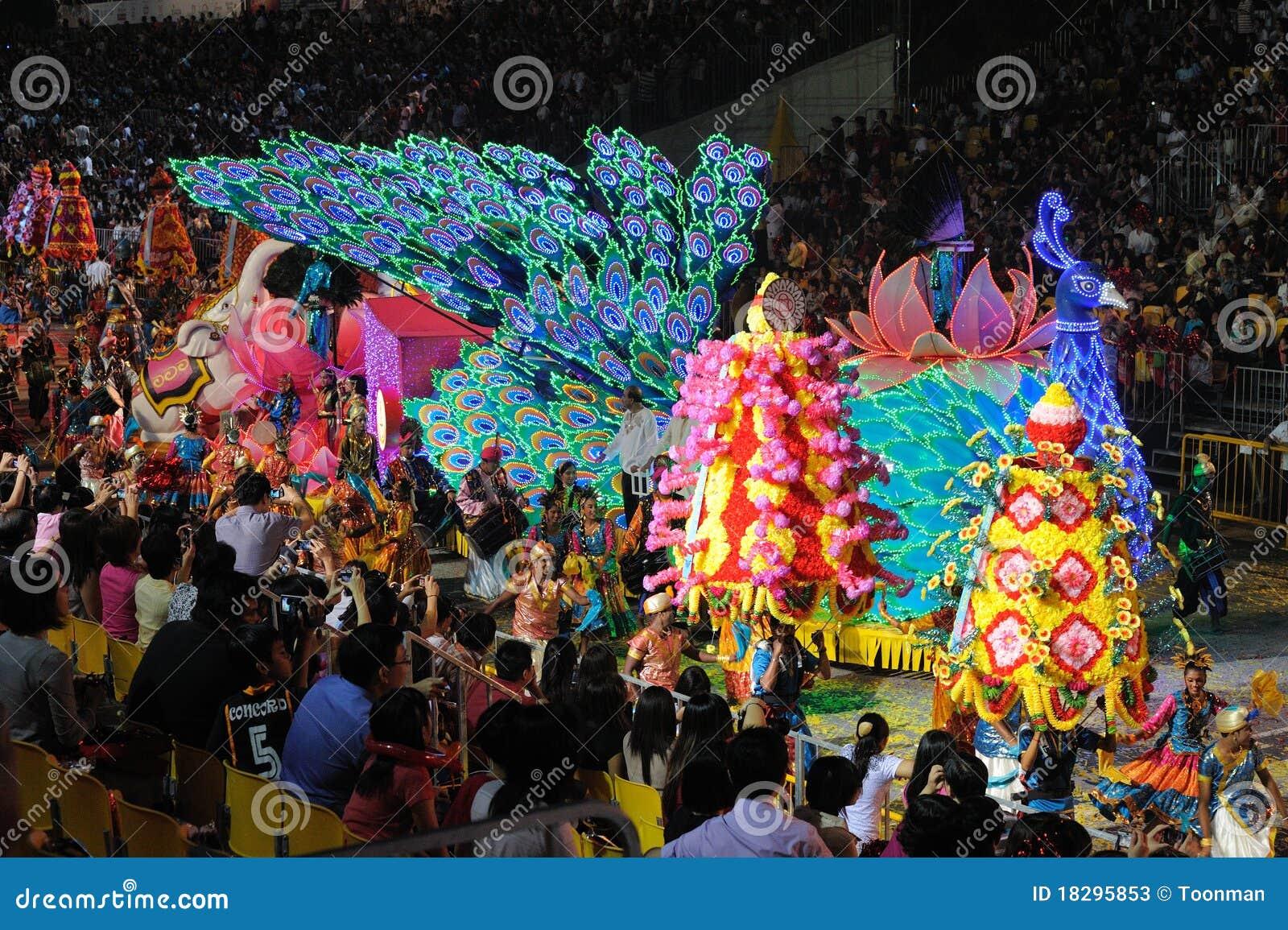 Chingay παρέλαση Σινγκαπούρη το
