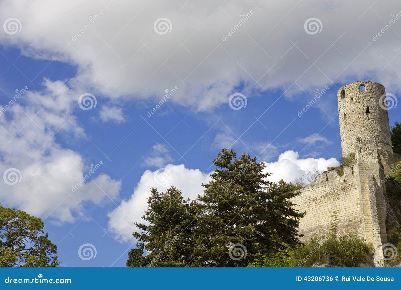 Download Chinon chateau arkivfoto. Bild av fritid, fransman, france - 43206736