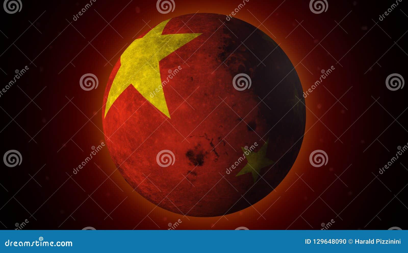 Chiny swój sztuczną księżyc gotową, w niebie w 2020
