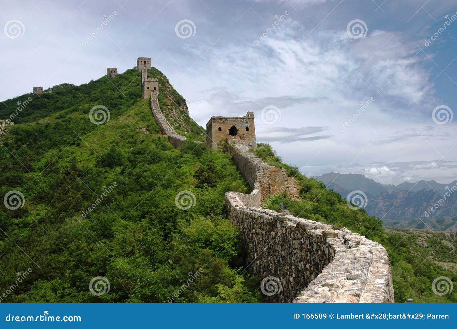 Chiny wielki mur.