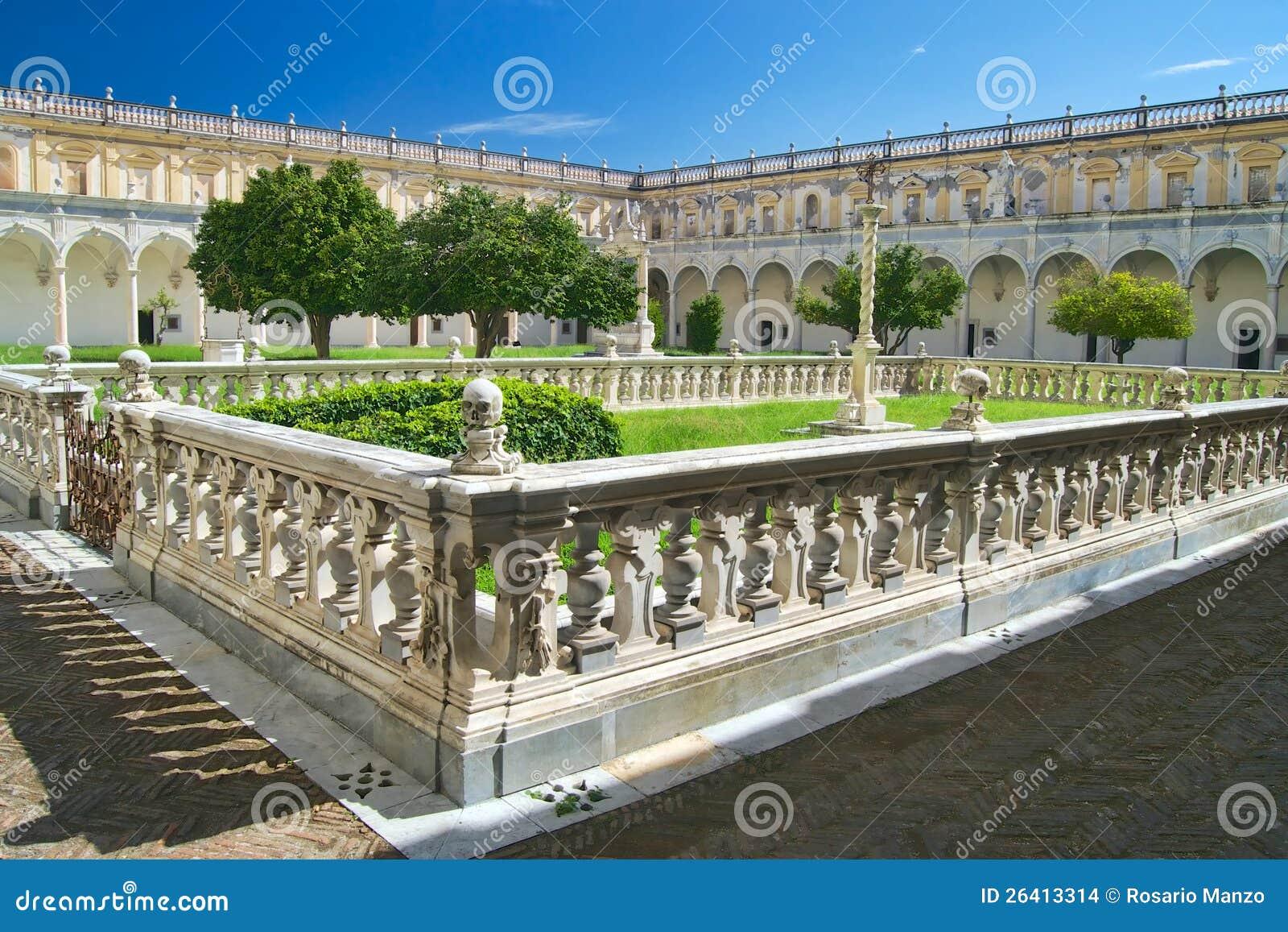 Chiostro grandioso em Certosa di San Martino