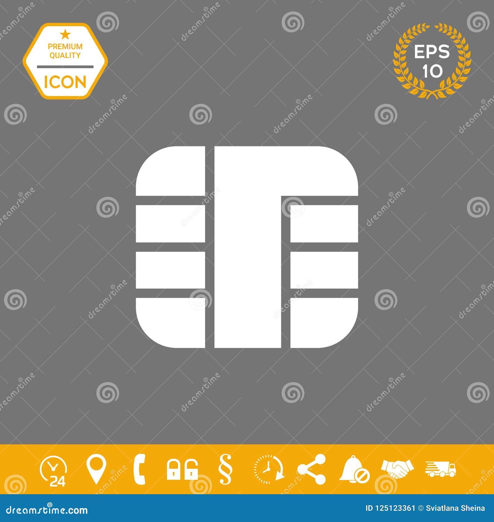 Chip der Kreditkarteikone Grafische Elemente für Ihr Design