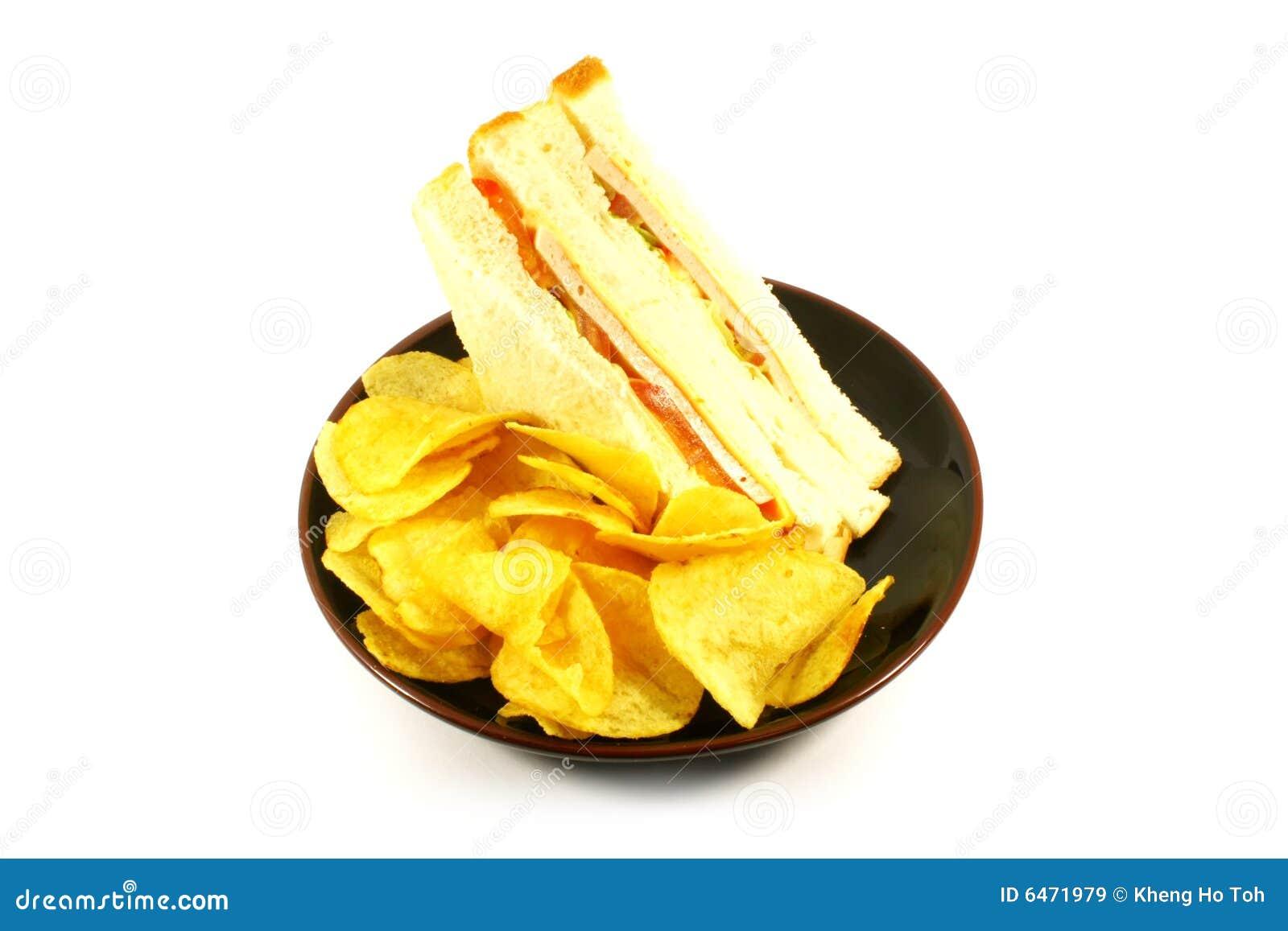 Chip kanapka posiłek combo