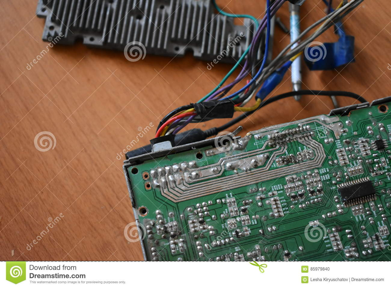 Chip Microcircuit Microchip Integrated Circuit Stock Photo Circuits Used As Background Royalty Free Photos