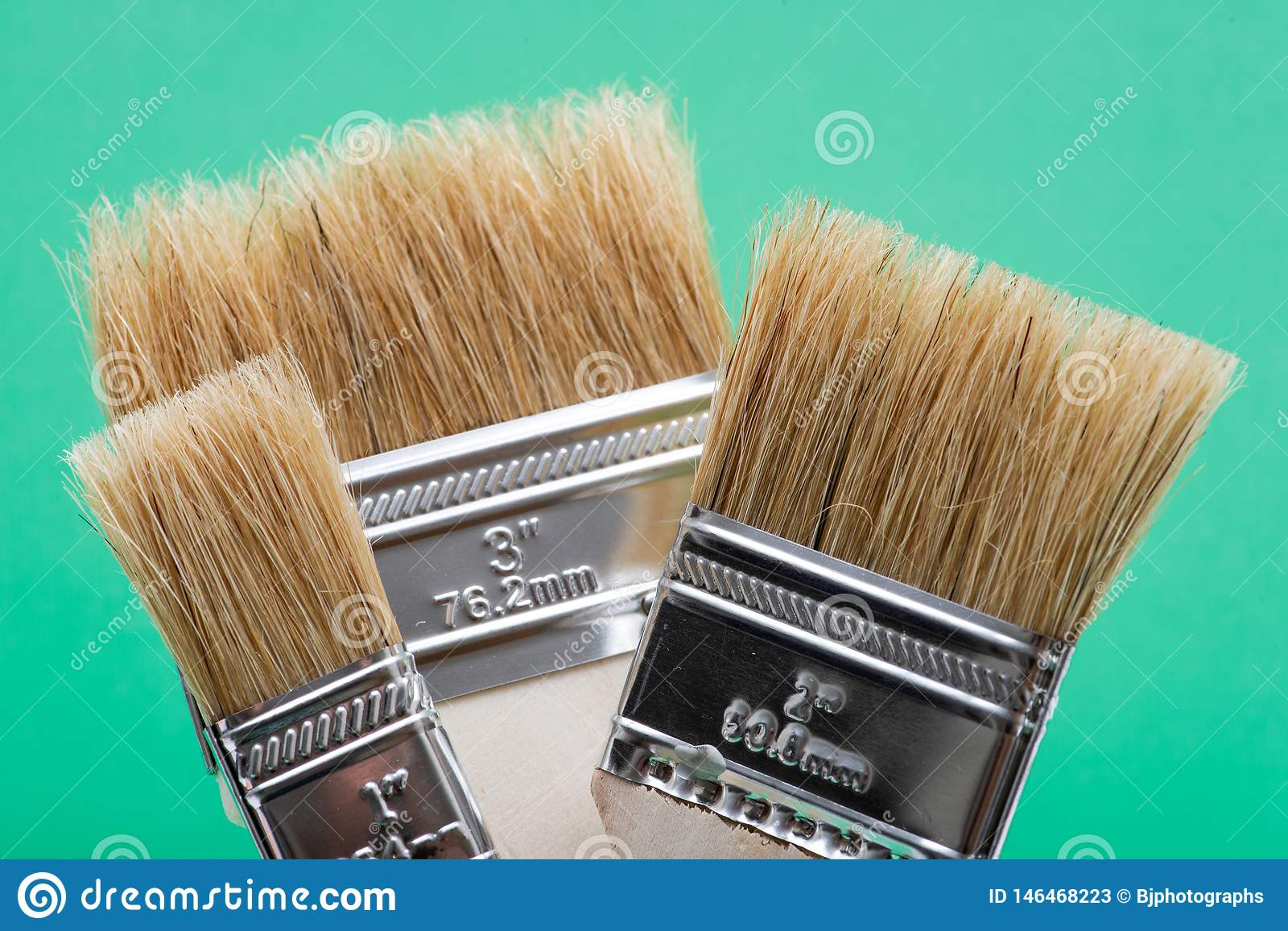 Chip Painting Brush liso isolou-se no verde