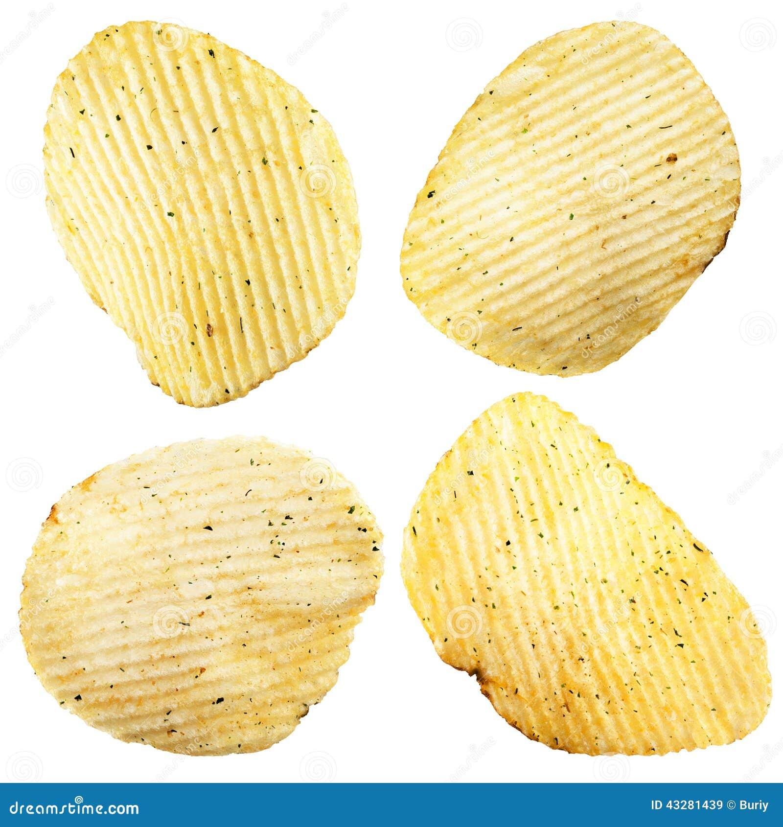 Chip ziemniaka odosobnione white