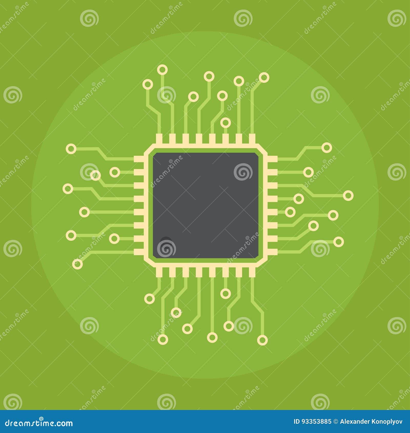 Chipa komputerowego wektoru ikona