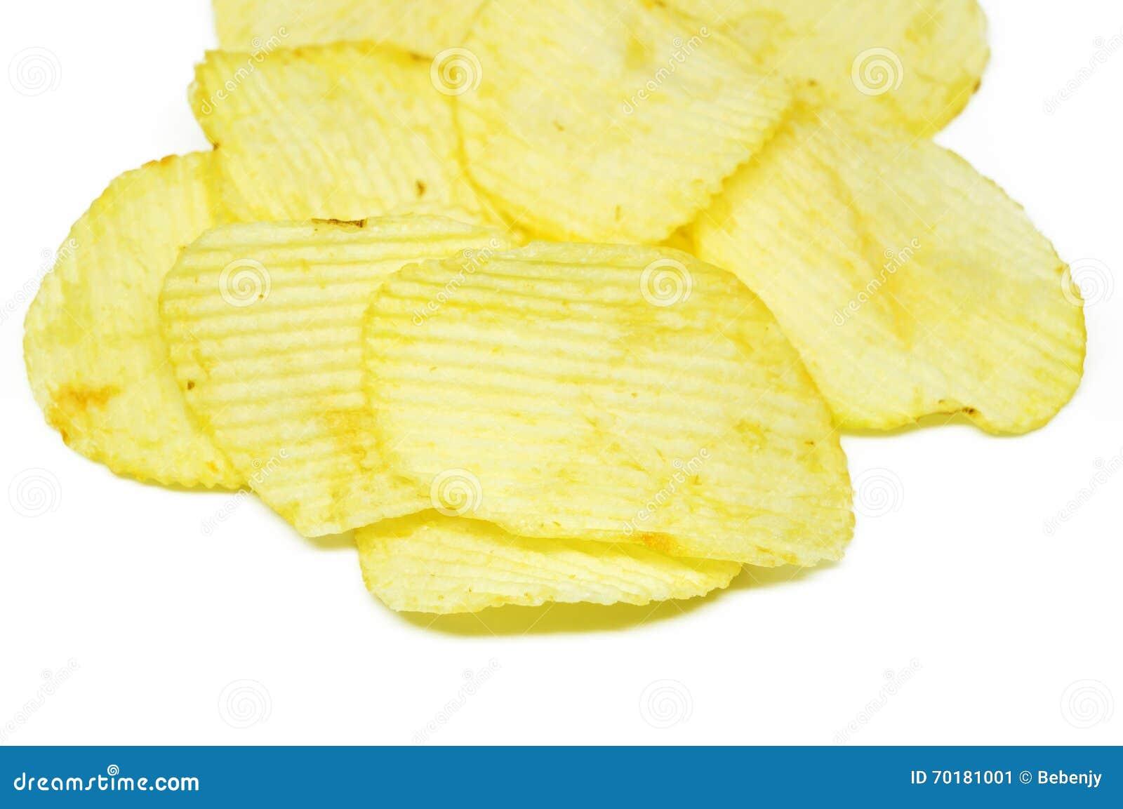 Chiper isolerade potatiswhite