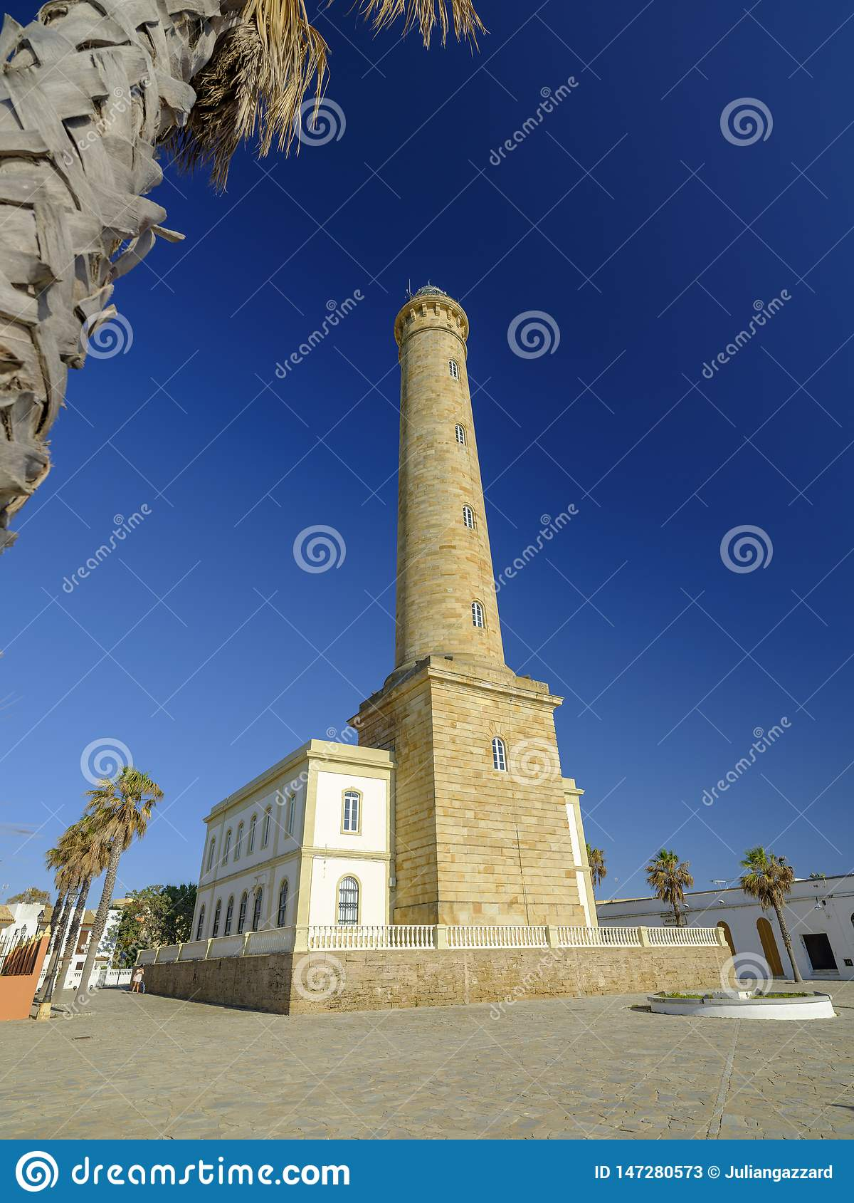 Faro de Chipiona, lightouse at Chipiona, Cadiz, Andalucia, Spain