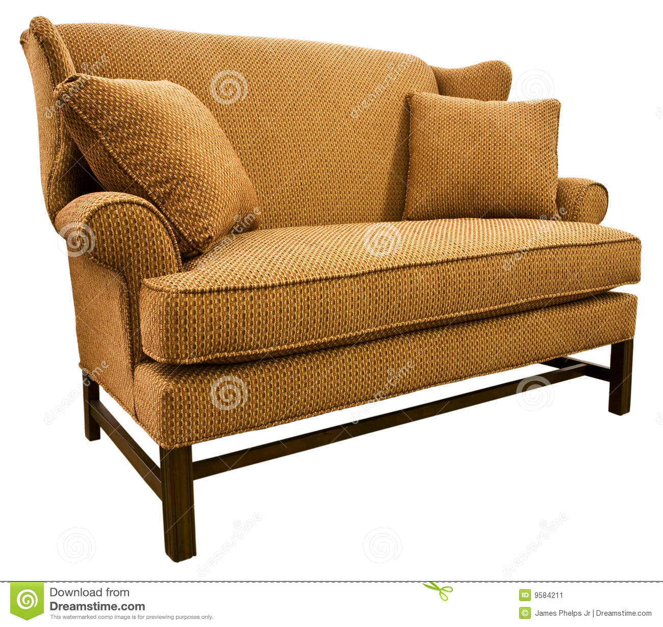 chippendale settee loveseat stock image  image  - cherry chippendale legs loveseat settee