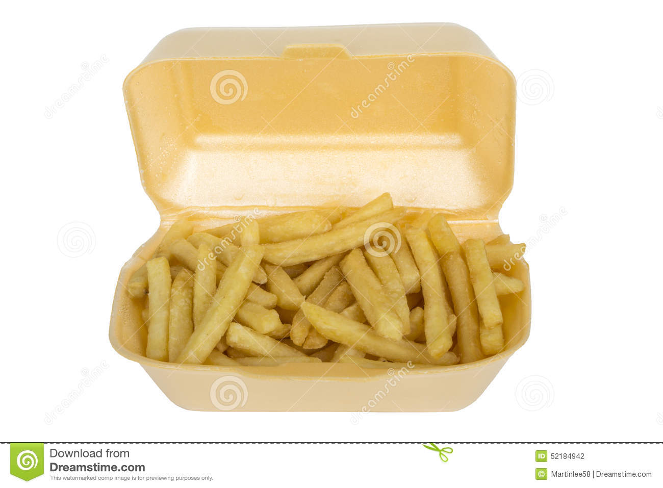 chips fries served in takeaway box carton stock photo. Black Bedroom Furniture Sets. Home Design Ideas