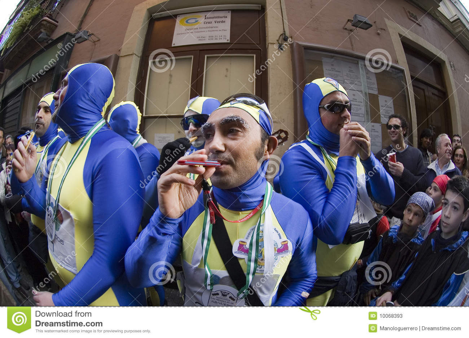 Chirigota no carnaval de Cadiz, Spain