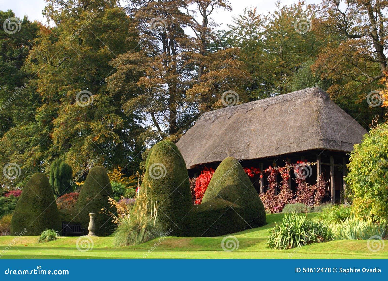 Chirk Castle Garden, Chirk, Wrexham, Wales, England Stock Photo ...