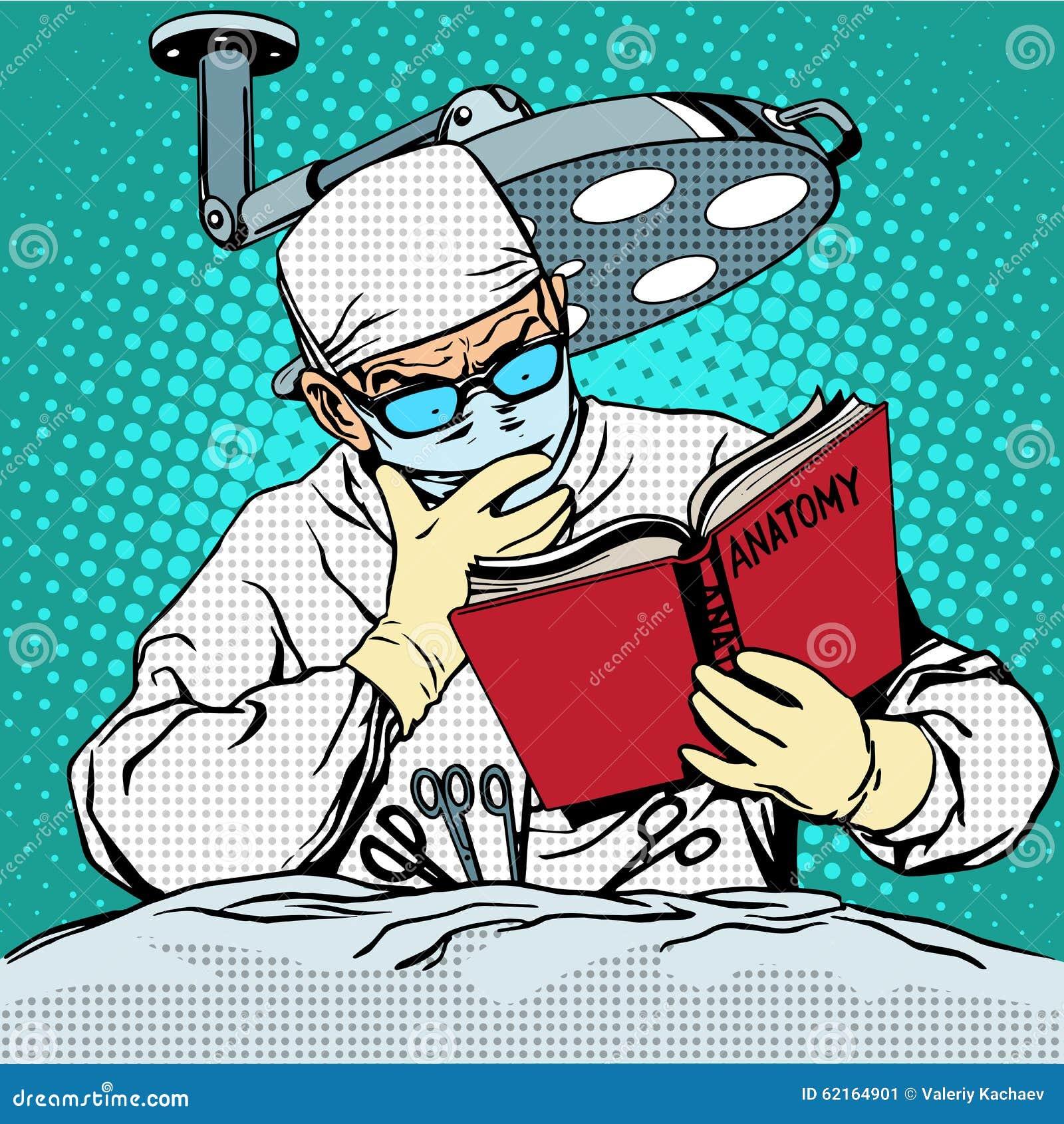 Chirurg przed operacją jest czytelniczym anatomią