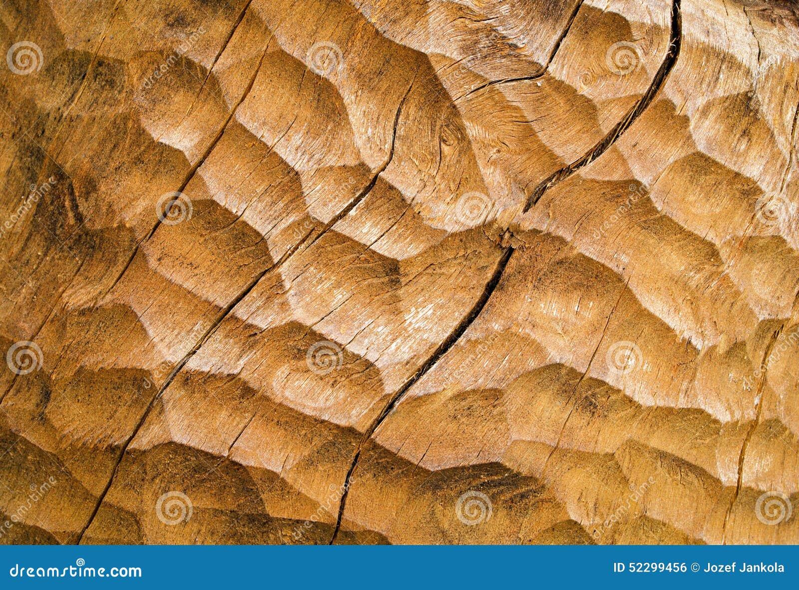 Chiseled Wood Stock Photo Image 52299456