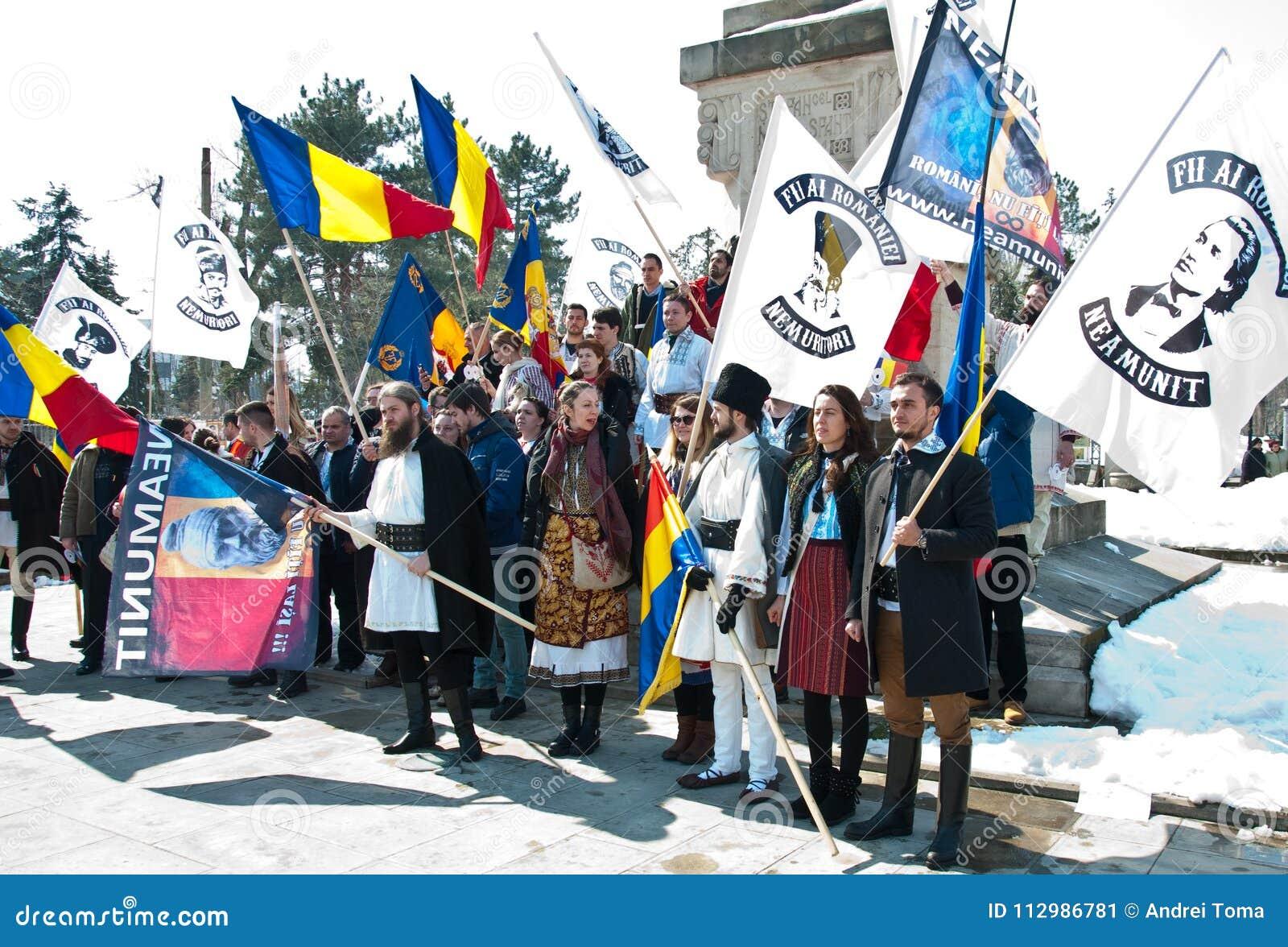 Chisinau, republika Moldova, Marzec, 25th, 2018, Wielki stulecie zgromadzenie