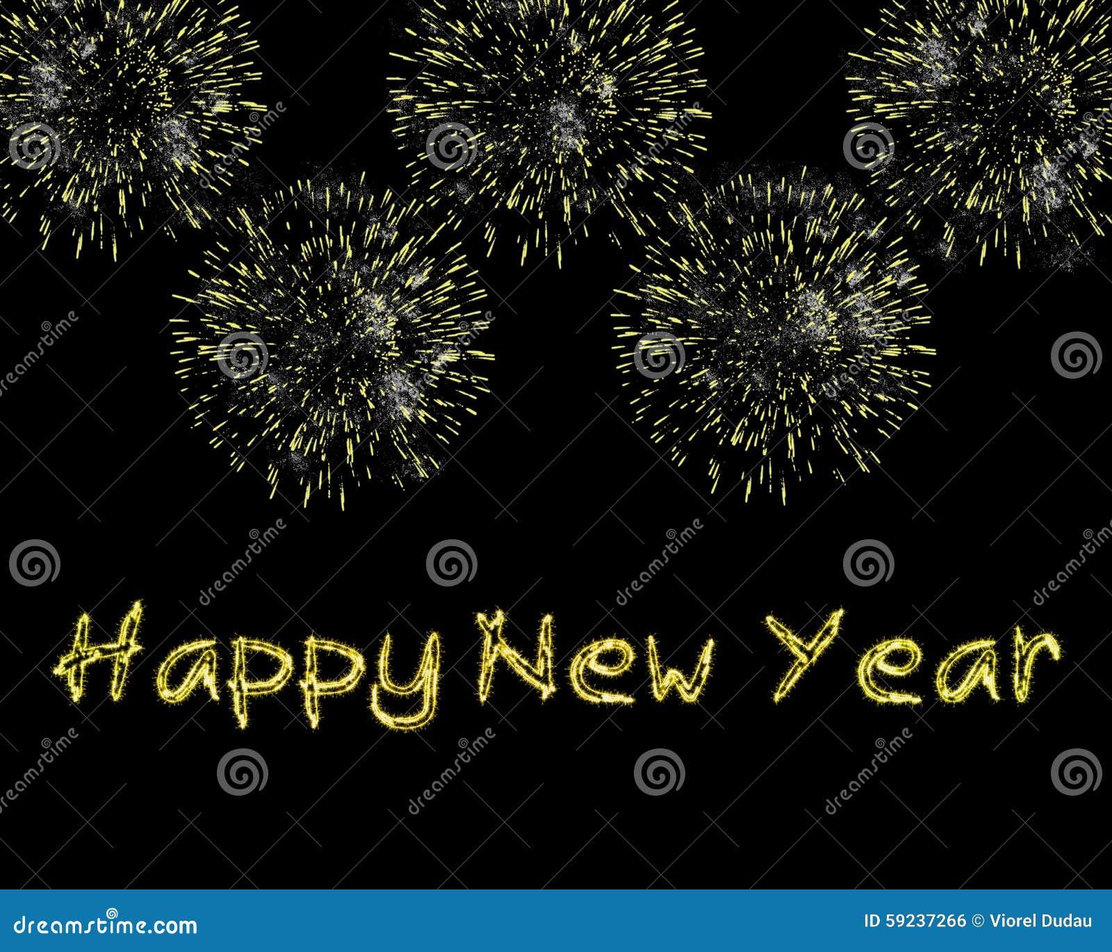 Download Chispas Y Fuegos Artificiales De La Feliz Año Nuevo Stock de ilustración - Ilustración de fireworks, hecho: 59237266