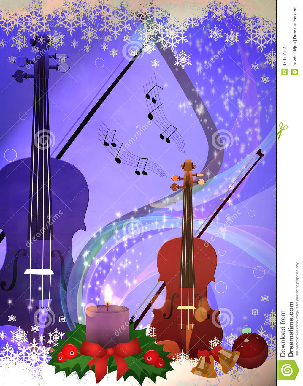 Chistmas music background stock illustration. Image of concert - 47455152