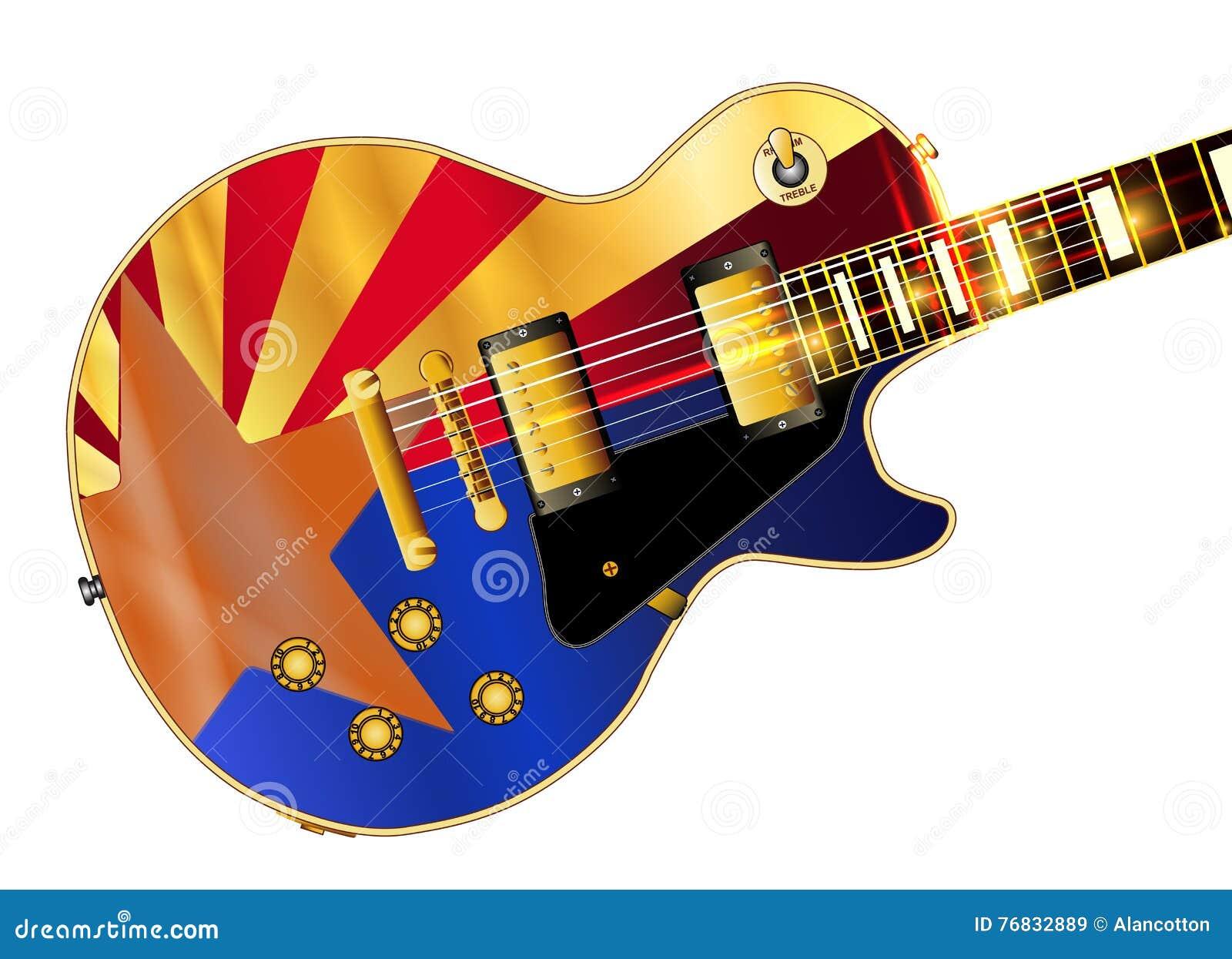 Chitarra della chitarra della bandiera dell Arizona