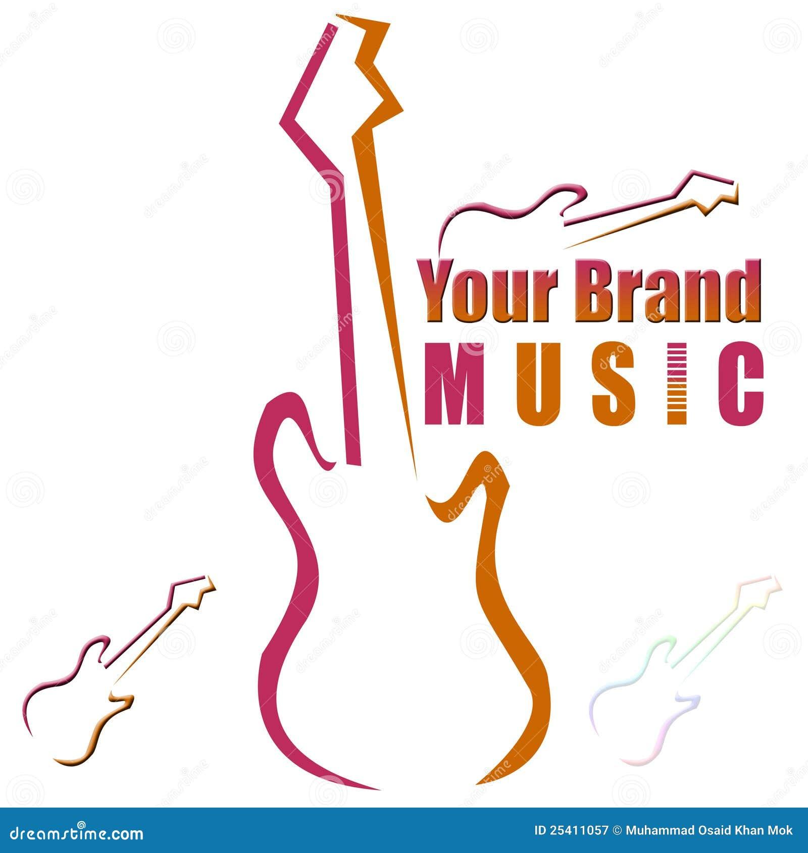 Chitarra Marchio Logotype Illustrazione Di Stock Illustrazione