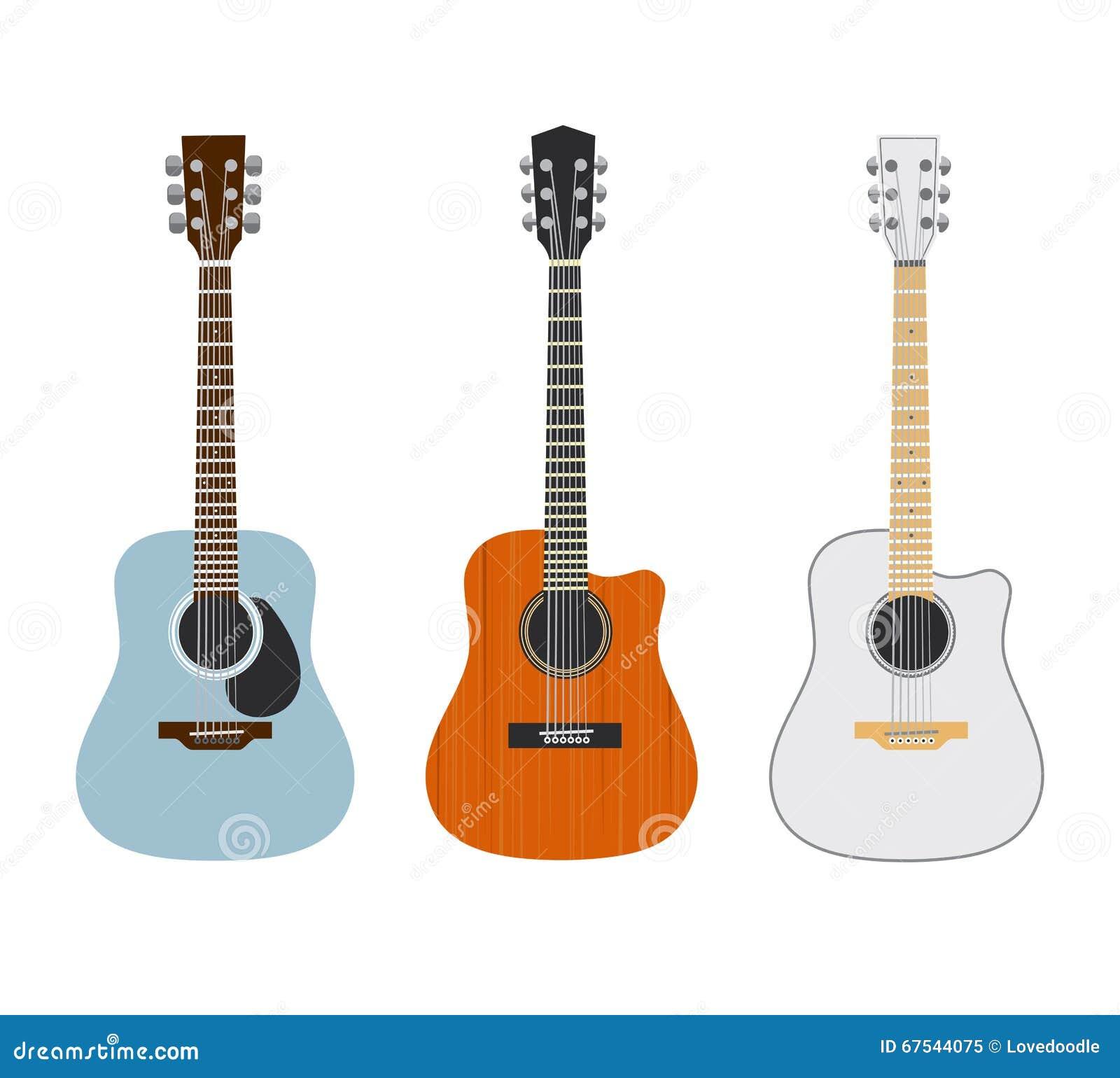 Chitarre Acustiche Immagine Stock Illustrazione Di Guitars 67544075