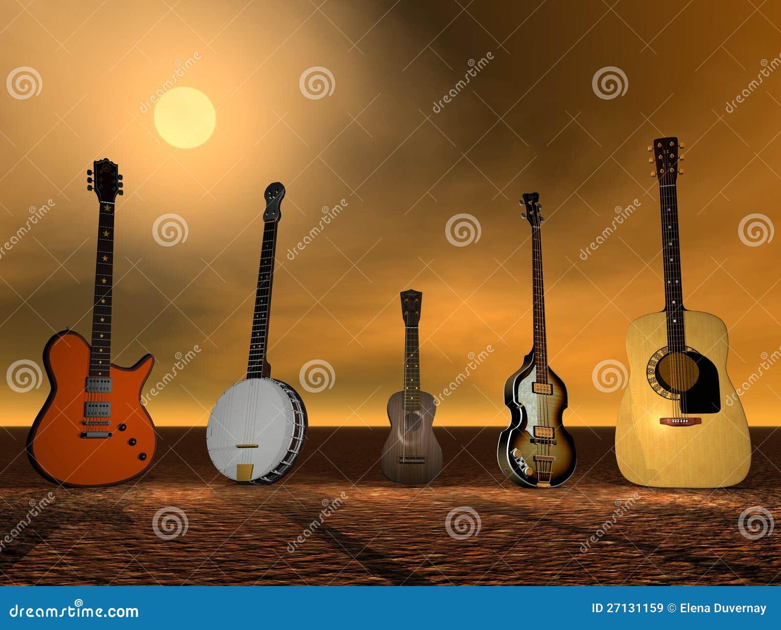 Chitarre, banjo ed ukulele
