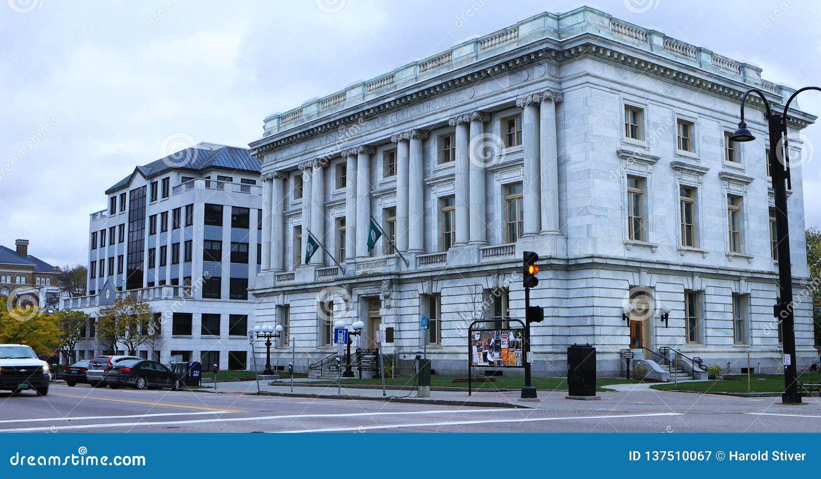 Chittenden okręgu administracyjnego Wyższy gmach sądu w Burlington, Vermont