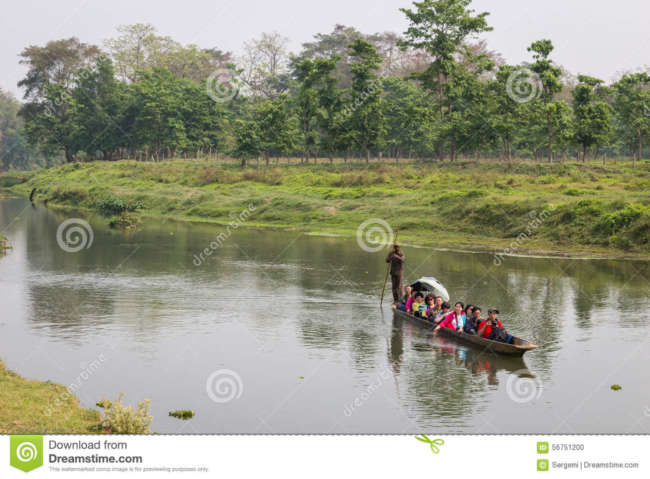 Chitwan Nepal  city photos gallery : CHITWAN NEPAL MARCH 27: Fartygsafari 27, 2015 i Chitwan, Nepal Safari ...