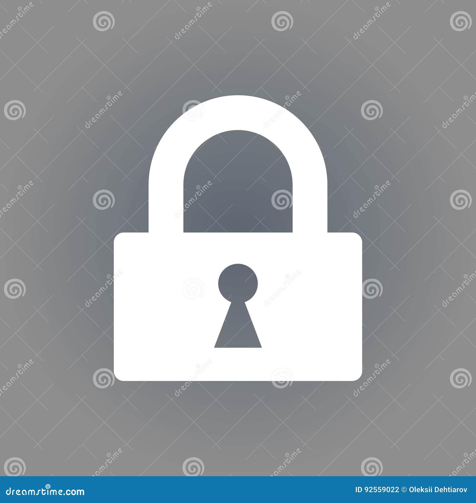 Chiuda la progettazione a chiave piana dell illustrazione di riserva di vettore dell icona