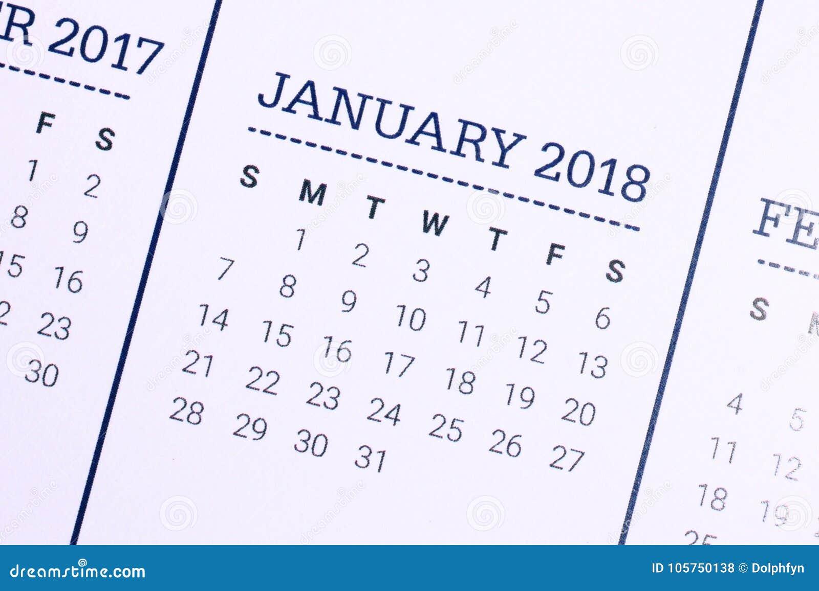 Chiuda su del gennaio 2018