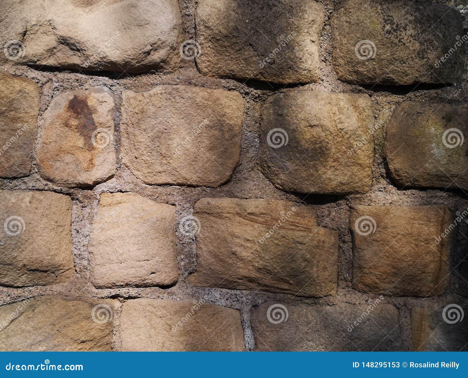 Chiuda su della parete del castello