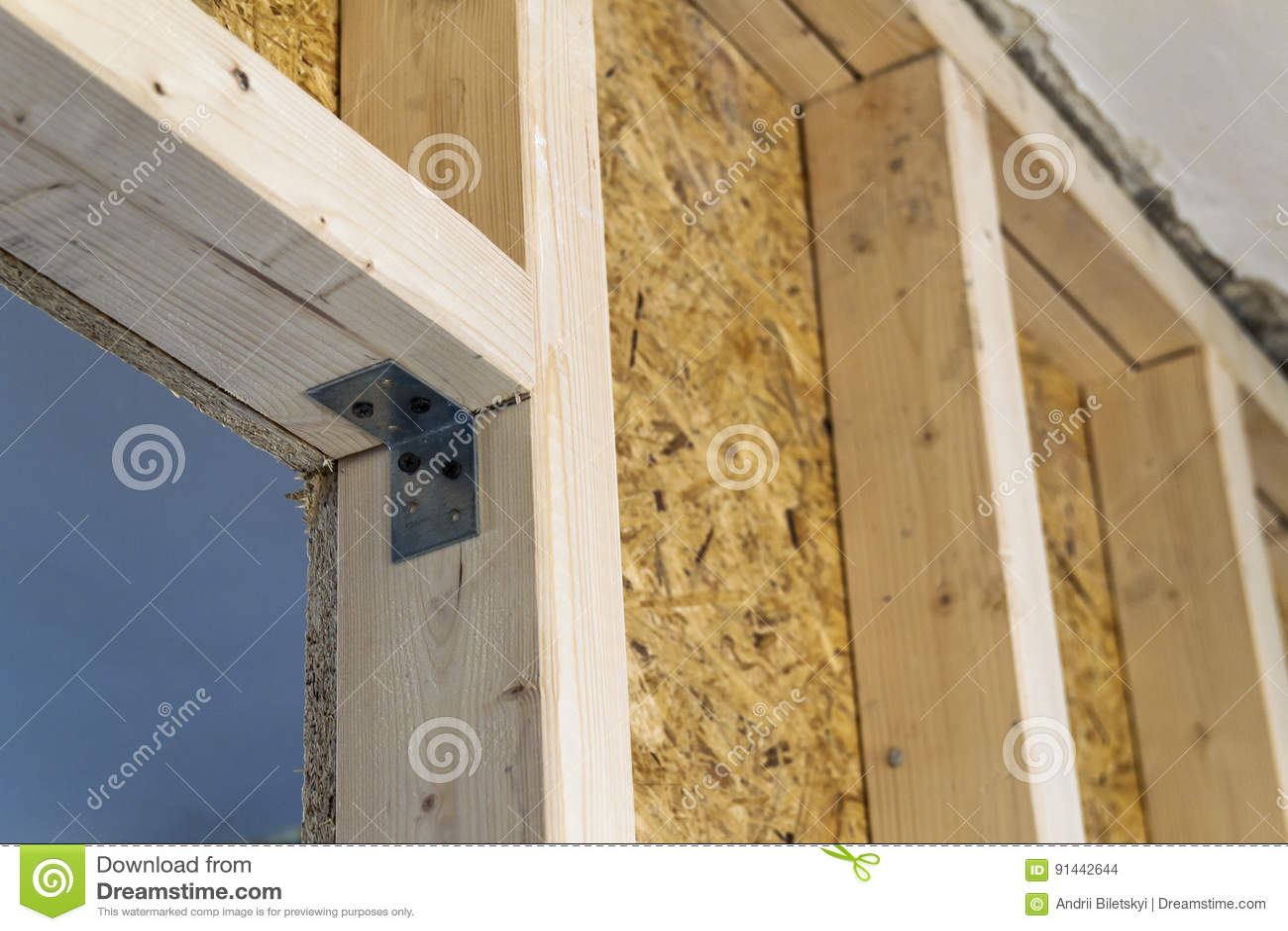 Chiuda sul dettaglio degli elementi di legno della parete for Creatore della pianta della casa