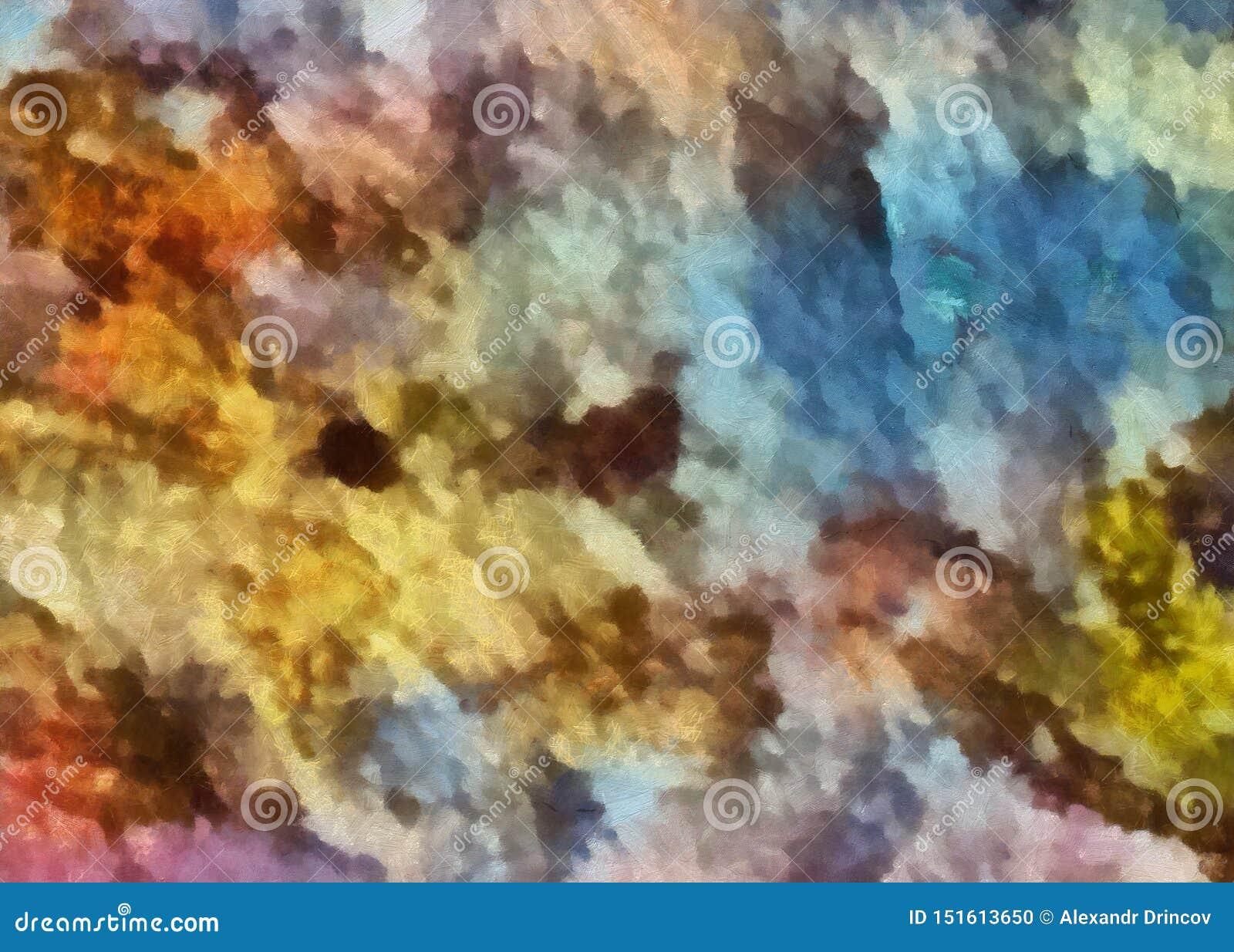 Chiuda sul fondo dell estratto della pittura ad olio Pennellate strutturate di arte nella macro Parte di pittura Materiale illust