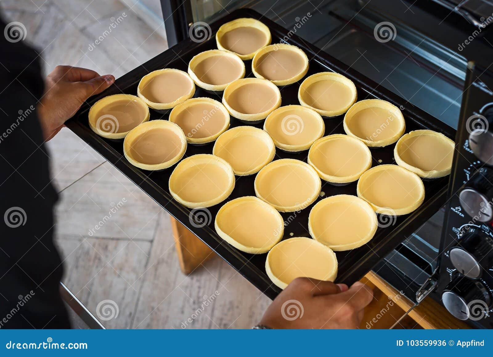 Chiuda sulla crostata dell uovo