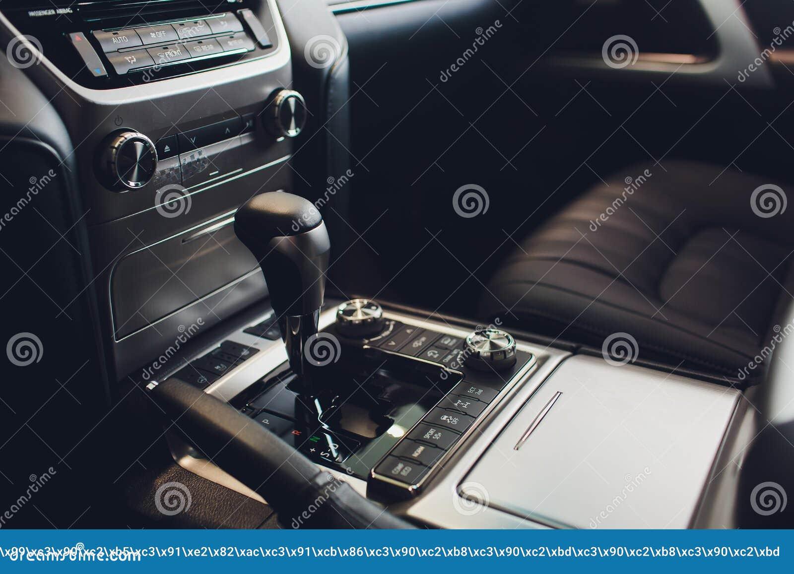 Chiuda sulla vista di uno spostamento del cambio Scatola ingranaggi manuale Dettagli dell interno dell automobile Trasmissione de