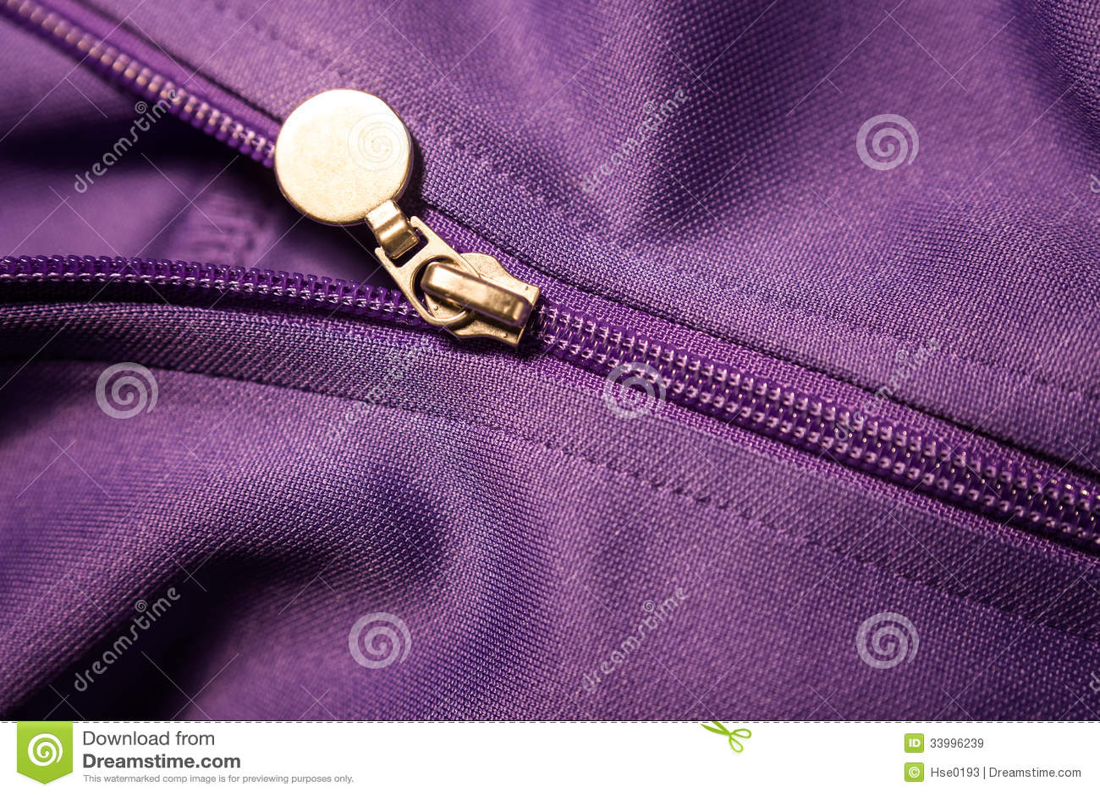 Chiusura lampo del cappotto di sport