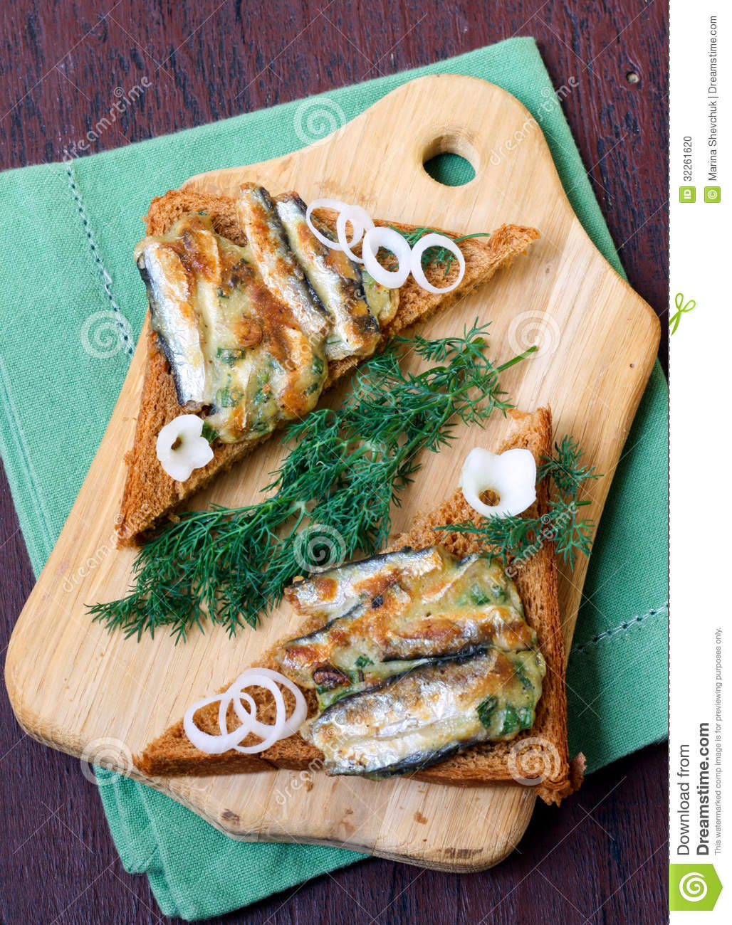Chive and anchovy fritters