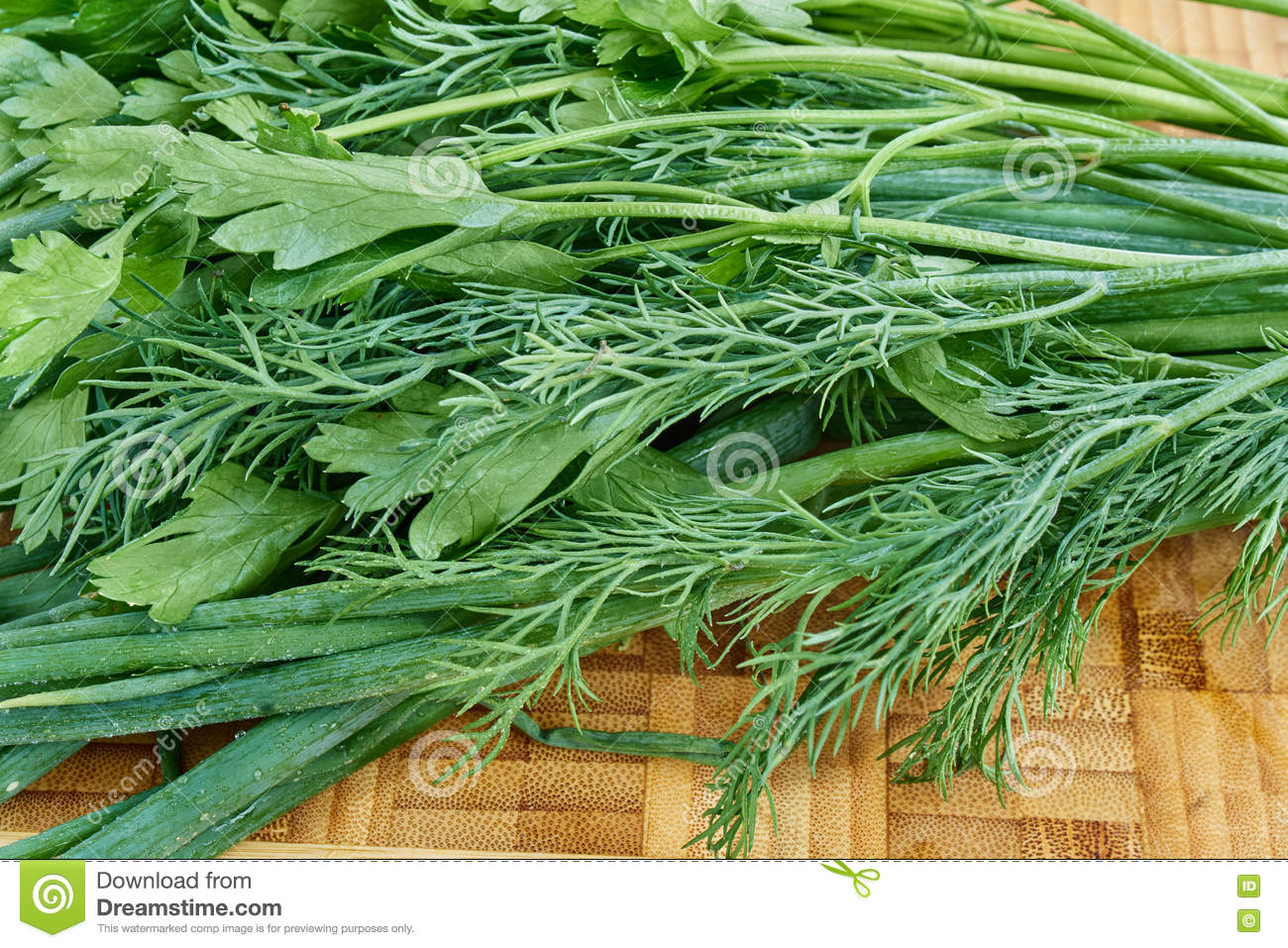 Chives Parsley dill