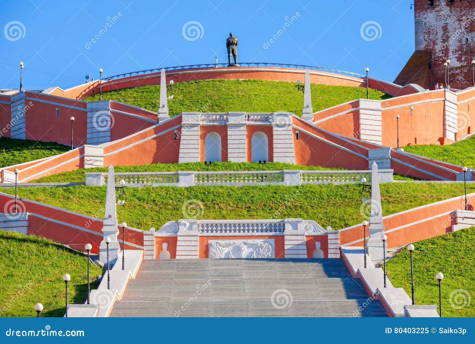 Chkalov schody, Nizhny Novgorod