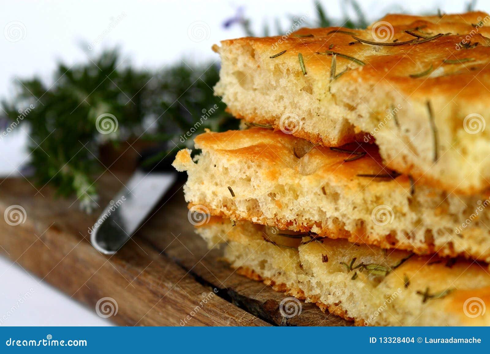 Chlebowy focaccia