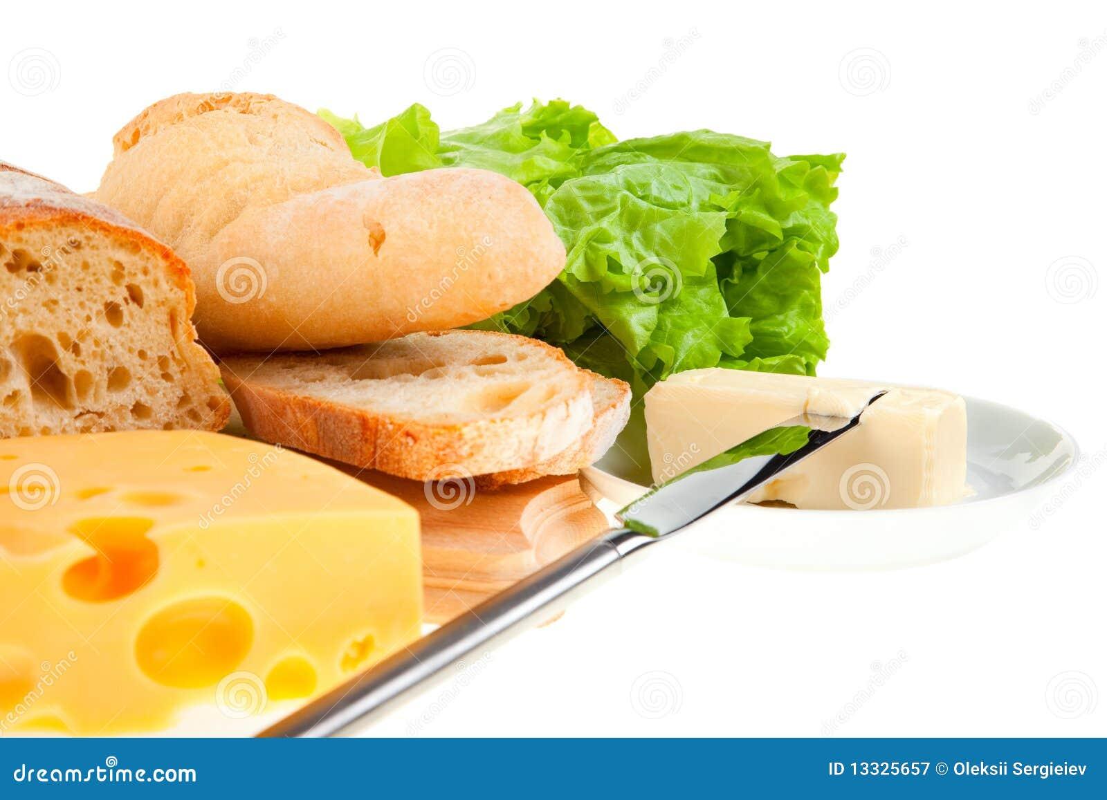 Chlebowy masła noża kawałek