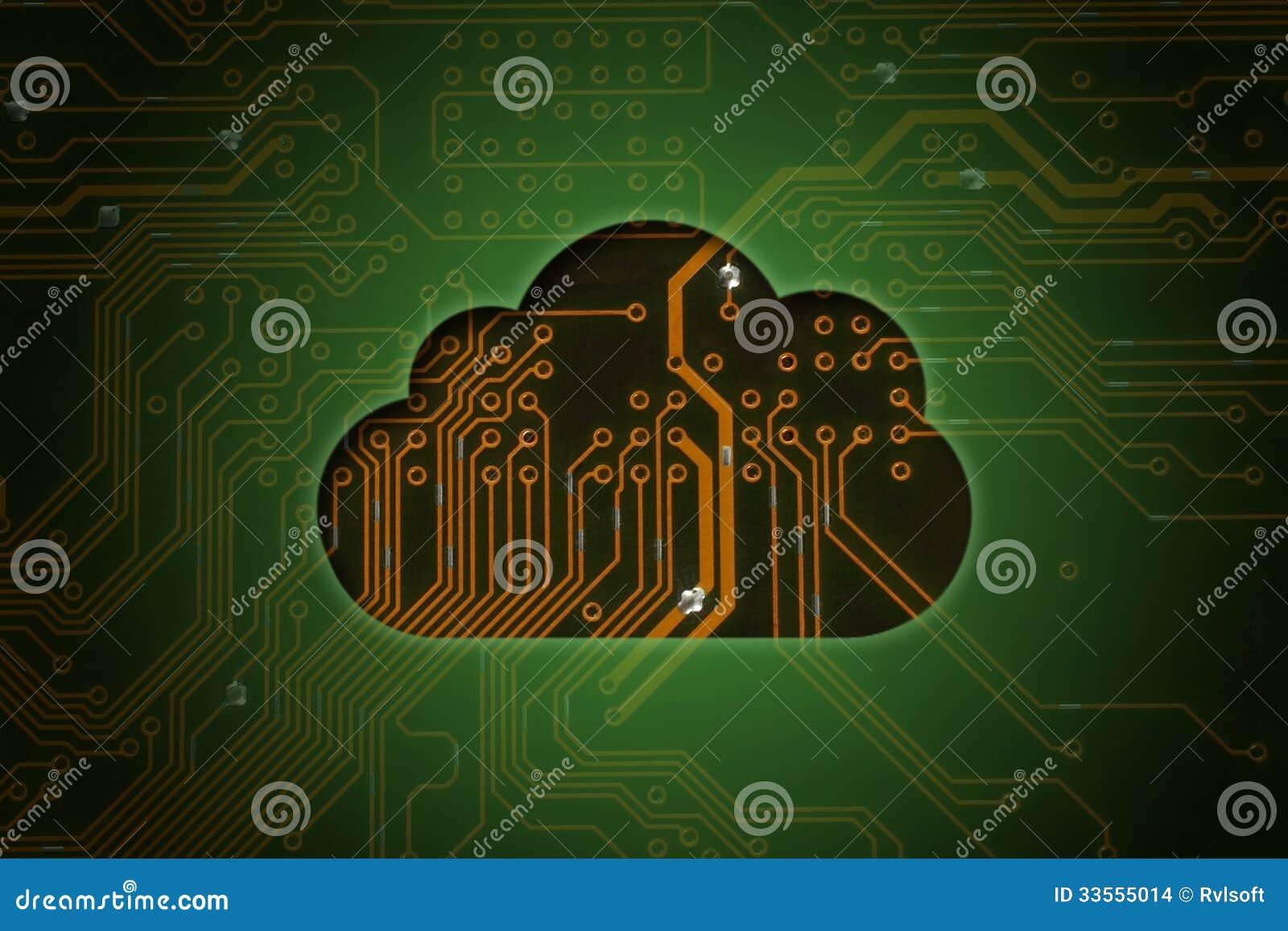 Chmura na obwodu tle